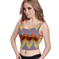 Aztec South American Pattern Zig Crop Top