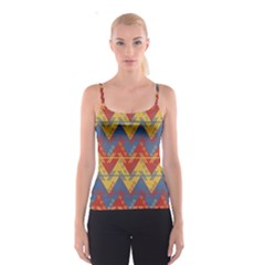 Aztec South American Pattern Zig Spaghetti Strap Top