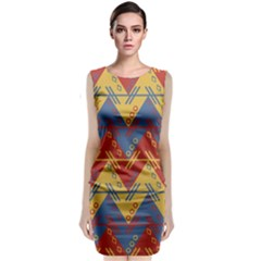Aztec South American Pattern Zig Classic Sleeveless Midi Dress