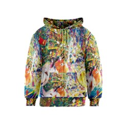 Multicolor Anime Colors Colorful Kids  Zipper Hoodie