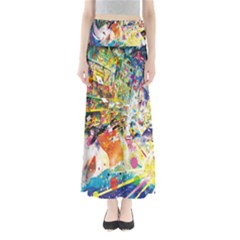 Multicolor Anime Colors Colorful Full Length Maxi Skirt