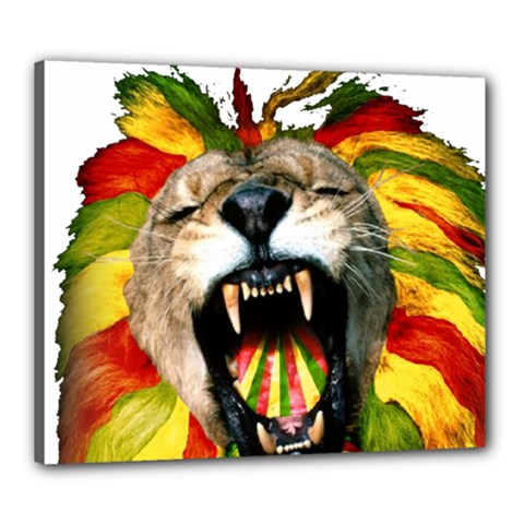 Reggae Lion Canvas 24  X 20
