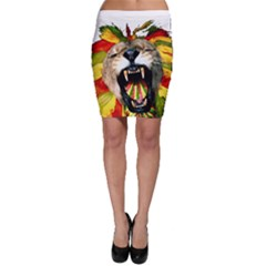 Reggae Lion Bodycon Skirt