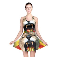 Reggae Lion Reversible Skater Dress