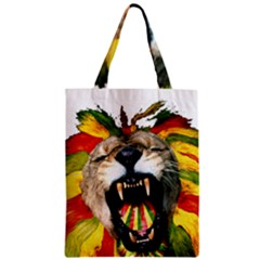 Reggae Lion Zipper Classic Tote Bag