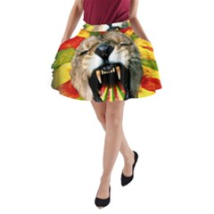 Reggae Lion A Line Pocket Skirt