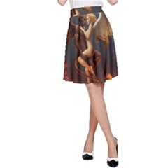 Angels Wings Curious Hell Heaven A Line Skirt