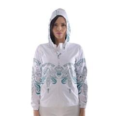 Angel Tribal Art Hooded Wind Breaker (women)