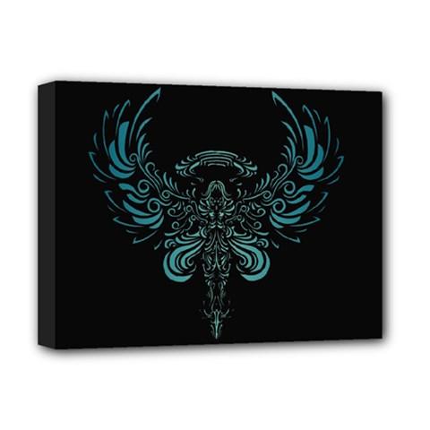 Angel Tribal Art Deluxe Canvas 16  X 12