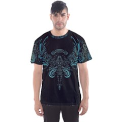 Angel Tribal Art Men s Sports Mesh Tee