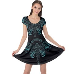 Angel Tribal Art Cap Sleeve Dresses