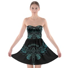 Angel Tribal Art Strapless Bra Top Dress