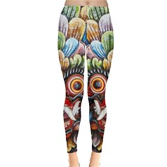 Wood Sculpture Bali Logo Leggings