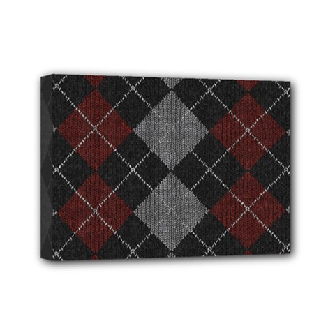 Wool Texture With Great Pattern Mini Canvas 7  X 5