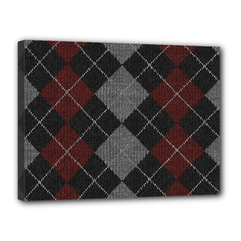 Wool Texture With Great Pattern Canvas 16  X 12