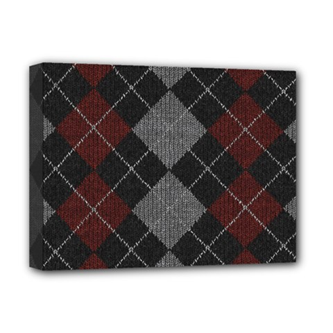 Wool Texture With Great Pattern Deluxe Canvas 16  X 12