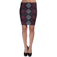 Wool Texture With Great Pattern Bodycon Skirt