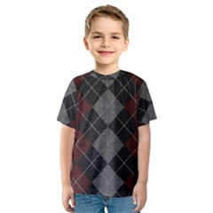 Wool Texture With Great Pattern Kids  Sport Mesh Tee