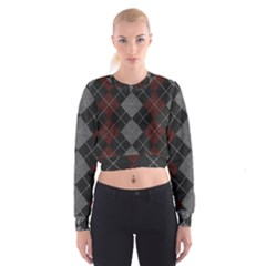 Wool Texture With Great Pattern Cropped Sweatshirt