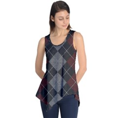 Wool Texture With Great Pattern Sleeveless Tunic