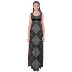 Wool Texture With Great Pattern Empire Waist Maxi Dress