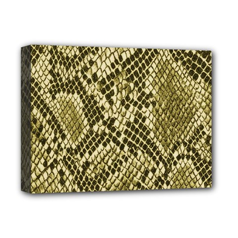 Yellow Snake Skin Pattern Deluxe Canvas 16  X 12