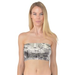 White Technology Circuit Board Electronic Computer Bandeau Top