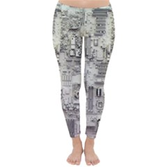 White Technology Circuit Board Electronic Computer Classic Winter Leggings