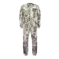 White Technology Circuit Board Electronic Computer Onepiece Jumpsuit (kids)