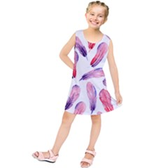 Watercolor Pattern With Feathers Kids  Tunic Dress