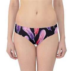 Watercolor Pattern With Feathers Hipster Bikini Bottoms
