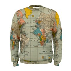 Vintage World Map Men s Sweatshirt