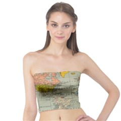 Vintage World Map Tube Top