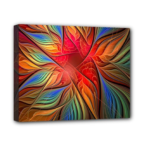 Vintage Colors Flower Petals Spiral Abstract Canvas 10  X 8