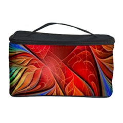 Vintage Colors Flower Petals Spiral Abstract Cosmetic Storage Case