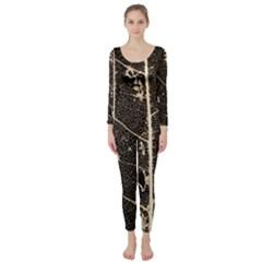 Vein Skeleton Of Leaf Long Sleeve Catsuit