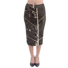 Vein Skeleton Of Leaf Midi Pencil Skirt