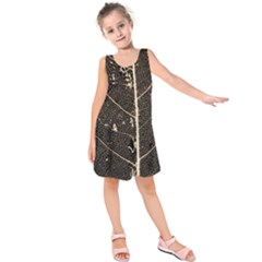 Vein Skeleton Of Leaf Kids  Sleeveless Dress
