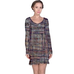Unique Pattern Long Sleeve Nightdress
