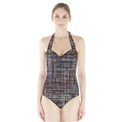 Unique Pattern Halter Swimsuit