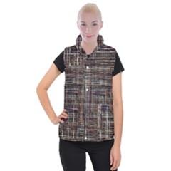 Unique Pattern Women s Button Up Puffer Vest
