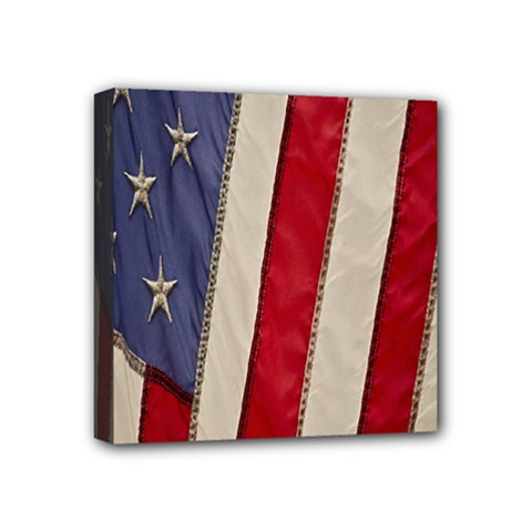 Usa Flag Mini Canvas 4  X 4