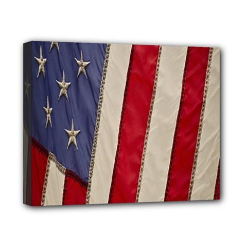 Usa Flag Canvas 10  X 8