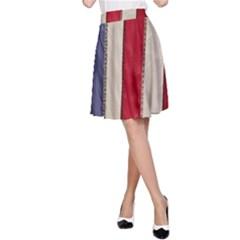 Usa Flag A Line Skirt
