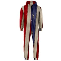 Usa Flag Hooded Jumpsuit (men)
