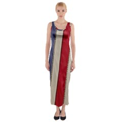 Usa Flag Fitted Maxi Dress