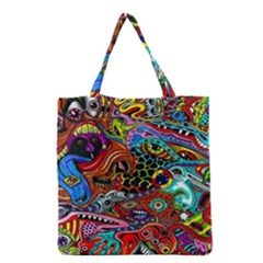 Vector Art Pattern Grocery Tote Bag