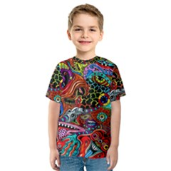 Vector Art Pattern Kids  Sport Mesh Tee