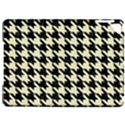 HOUNDSTOOTH2 BLACK MARBLE & BEIGE LINEN Apple iPad Pro 9.7   Hardshell Case View1