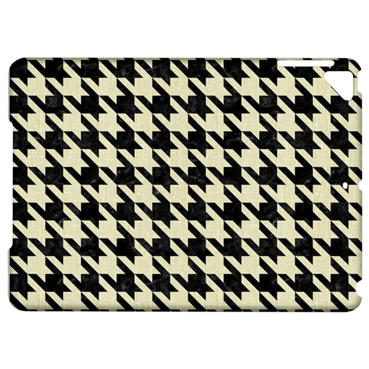 HOUNDSTOOTH2 BLACK MARBLE & BEIGE LINEN Apple iPad Pro 9.7   Hardshell Case